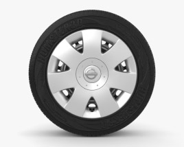 3D model of Nissan Note 15 inch rim 001