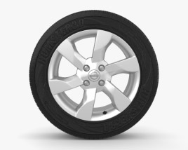 3D model of Nissan Note 16 inch rim 001