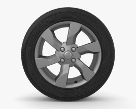 3D model of Nissan Note 16 inch rim 002