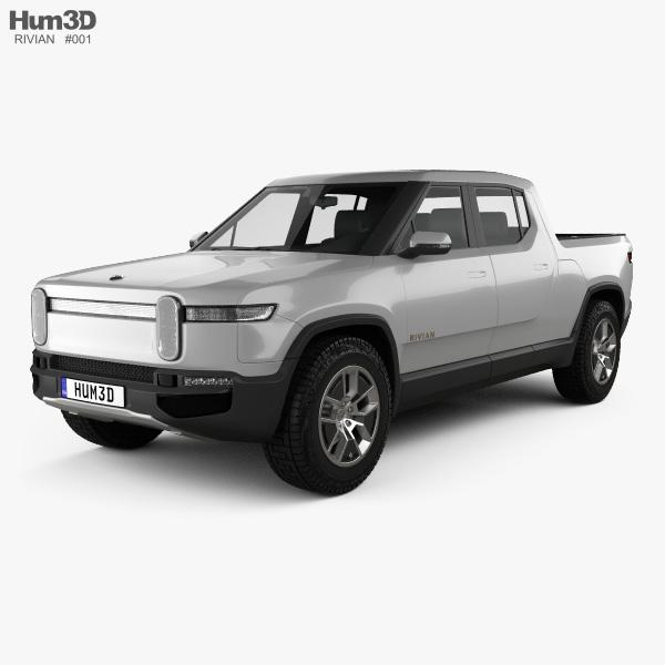 3D model of Rivian R1T 2018