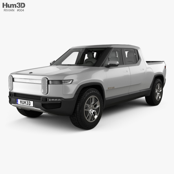 3D model of Rivian R1T with HQ interior 2018