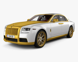 3D model of Rolls-Royce Ghost Diva Fenice Milano with HQ Interior 2012