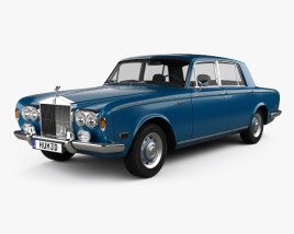 3D model of Rolls-Royce Silver Shadow 1965