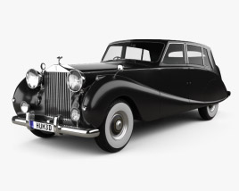 3D model of Rolls-Royce Silver Wraith Touring Limousine 1955
