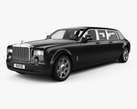 3D model of Rolls-Royce Phantom Mutec with HQ interior 2012