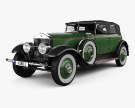 3D model of Rolls-Royce Phantom Convertible Sedan 1929