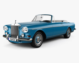 3D model of Rolls-Royce Silver Cloud III Mulliner Park Ward Drop Head Coupe 1966