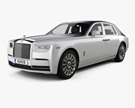 3D model of Rolls-Royce Phantom 2018