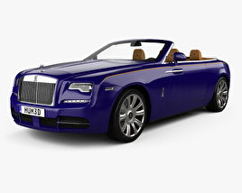 3D model of Rolls-Royce Dawn with HQ interior 2017