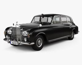 3D model of Rolls-Royce Phantom Park Ward Limousine with HQ interior 1963