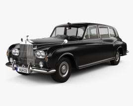 3D model of Rolls-Royce Phantom Park Ward Limousine with HQ interior 1963