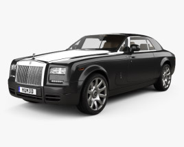 3D model of Rolls-Royce Phantom coupe with HQ interior 2012