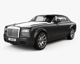 3D model of Rolls-Royce Phantom Drophead coupe with HQ interior 2012