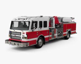 3D model of Rosenbauer IA 75 Viper Straight Stick Ladder Fire Truck 2017