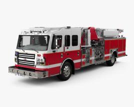 3D model of Rosenbauer IA 75 Viper Straight Stick Ladder Fire Truck with HQ interior 2017
