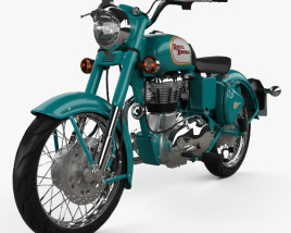 3D model of Royal Enfield Bullet C5 Classic 2014