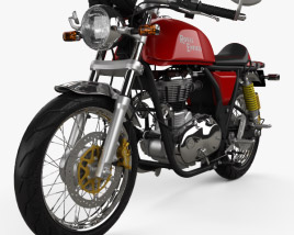 3D model of Royal Enfield Continental GT Cafe Racer 2014