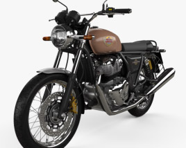 3D model of Royal Enfield Interceptor 650 2020