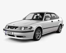 3D model of Saab 9-3 Hatchback 5-door 2001