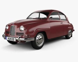 3D model of Saab 96 1960