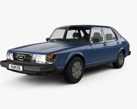 Saab 900 GLE combi 1979 3D model