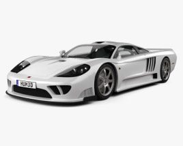 3D model of Saleen S7 Twin Turbo 2009