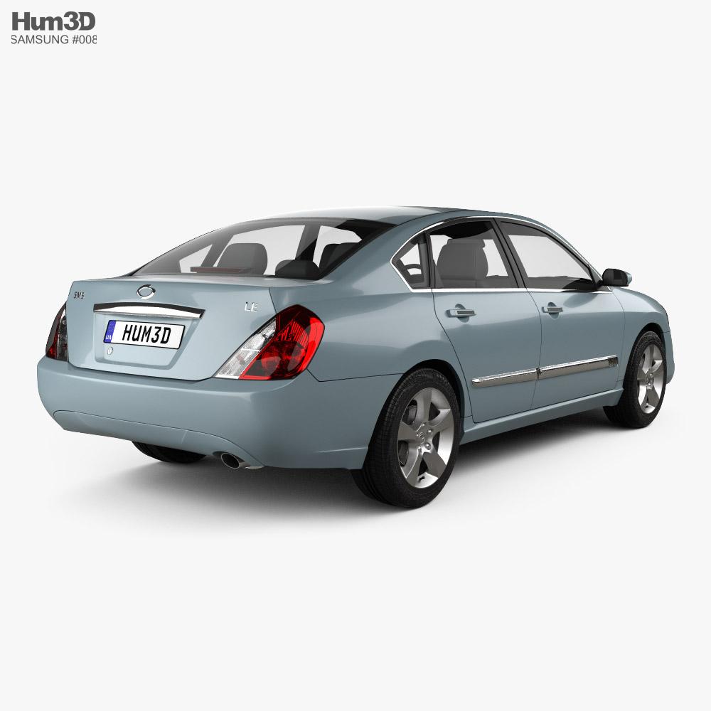 Samsung SM5 2007 3d model back view