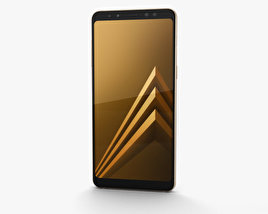 3D model of Samsung Galaxy A8 (2018) Gold