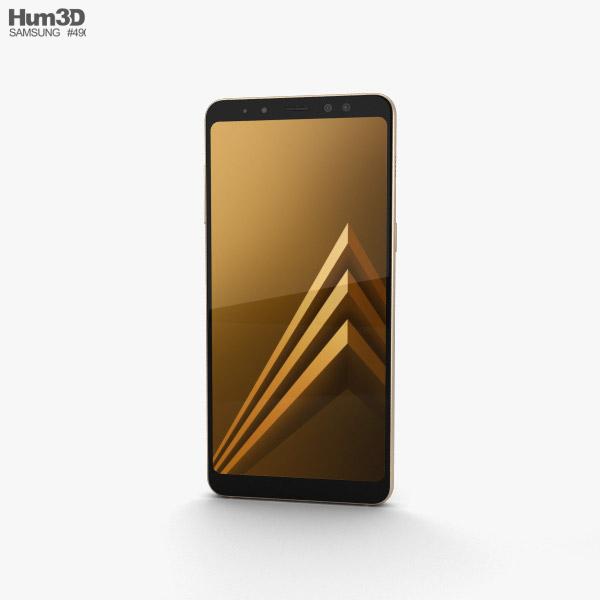Samsung Galaxy A8 (2018) Gold 3D model