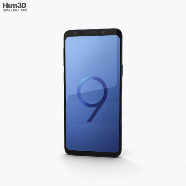Samsung Galaxy S9 Coral Blue 3D model