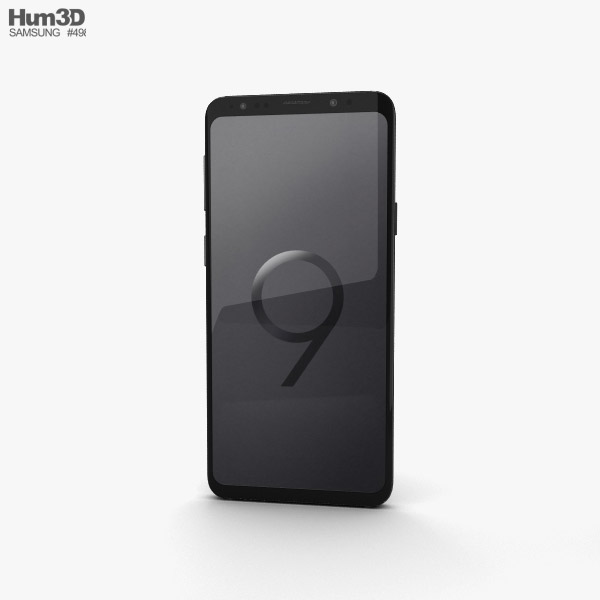 Samsung Galaxy S9 Plus Midnight Black 3D model