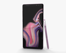 3D model of Samsung Galaxy Note 9 Lavender Purple
