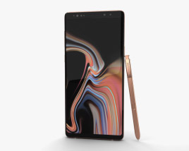 3D model of Samsung Galaxy Note 9 Metallic Copper