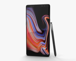 3D model of Samsung Galaxy Note 9 Midnight Black