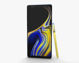 3D model of Samsung Galaxy Note 9 Ocean Blue