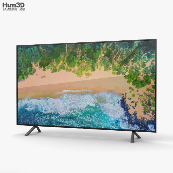 3D model of Samsung 65″ NU7100 Smart 4K TV