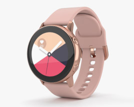 3D model of Samsung Galaxy Watch Active Rose Gold