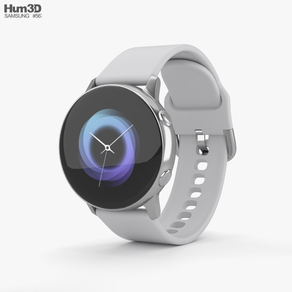 Samsung Galaxy Watch Active Silver 3D model
