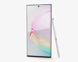 3D model of Samsung Galaxy Note 10 Plus Aura White
