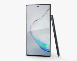 3D model of Samsung Galaxy Note 10 Aura Black