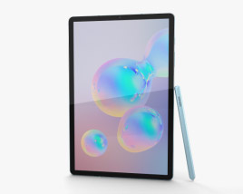 3D model of Samsung Galaxy Tab S6 Cloud Blue