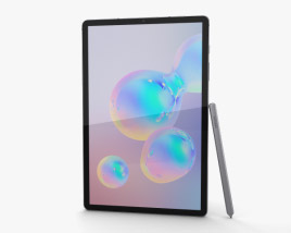 3D model of Samsung Galaxy Tab S6 Mountain Gray
