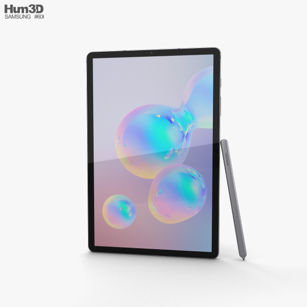 Samsung Galaxy Tab S6 Mountain Gray 3D model