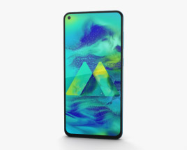 3D model of Samsung Galaxy M40 Seawater Blue