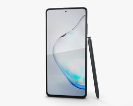 3D model of Samsung Galaxy Note10 Lite Aura Black