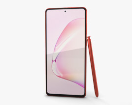 3D model of Samsung Galaxy Note10 Lite Aura Red