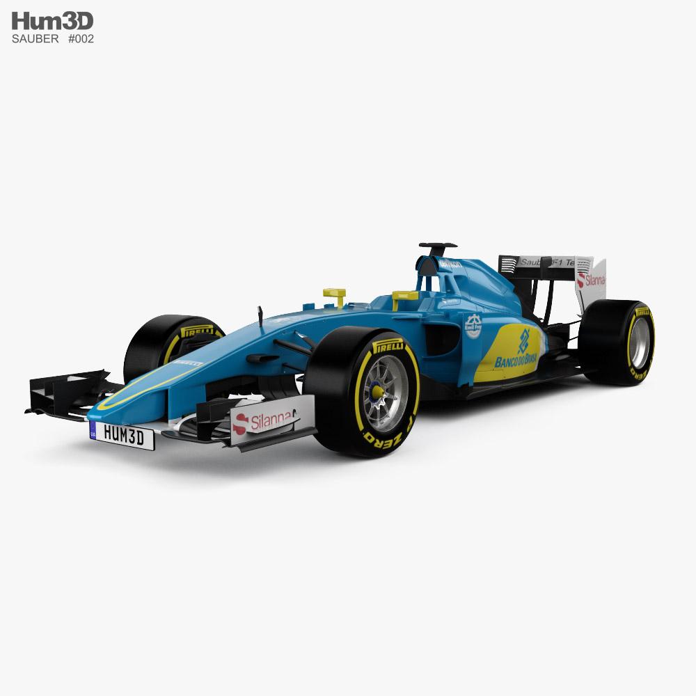 Sauber C34 2015 3D model