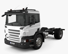3D model of Scania P Chassis 2011