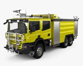 3D model of Scania P Fire Truck Airport 2011