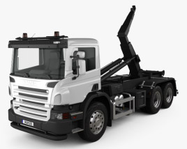 3D model of Scania P Hook Loader 2011
